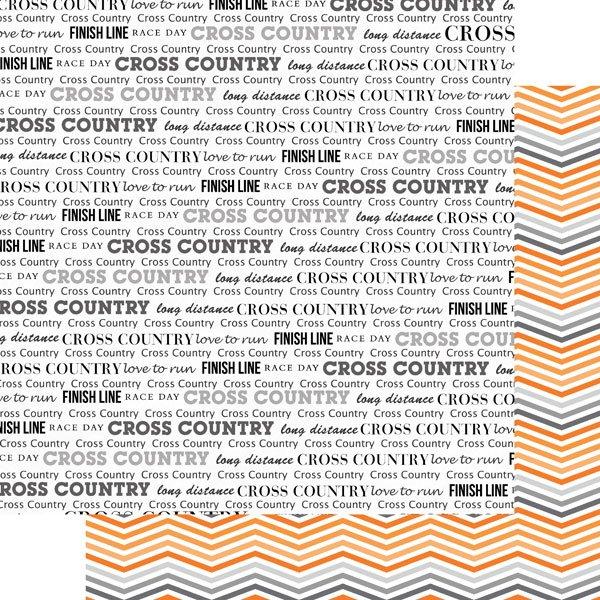 Cross Country & Orange Chevron paper