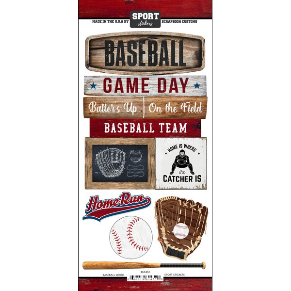 Baseball Wood Sport stickers