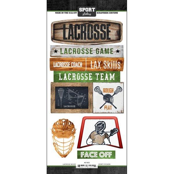 lacrosse Wood Sport stickers