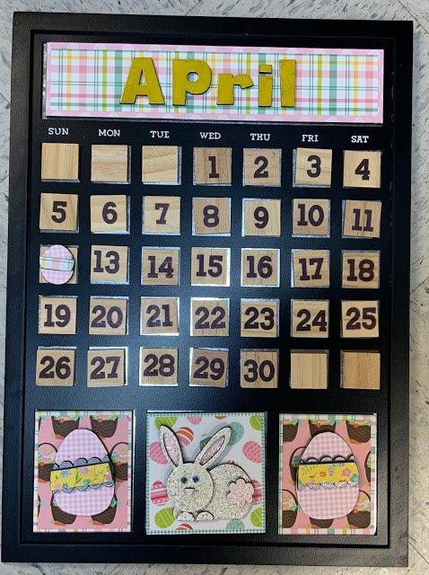 April Magnetic calendar insert