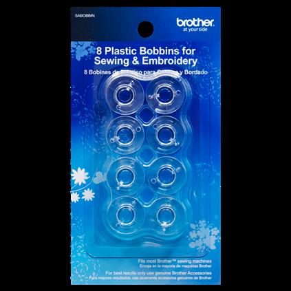 Brother Clear Plastic Class 15 Bobbins - 10pk SA156
