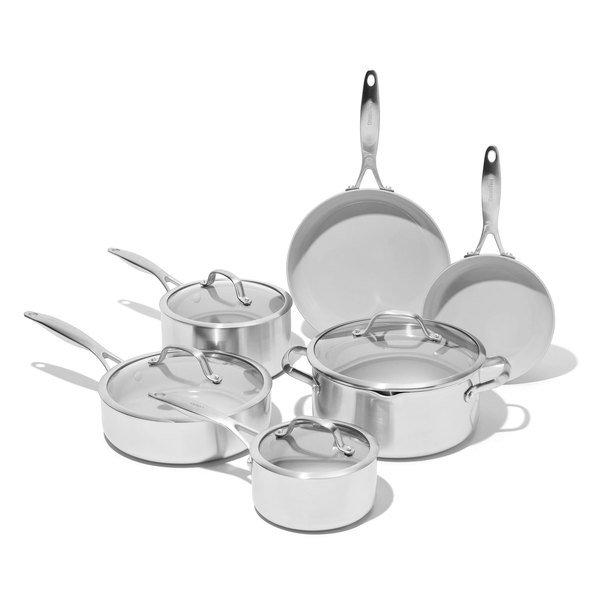 GreenPan Venice Pro 10 Piece Ceramic Cookware Set
