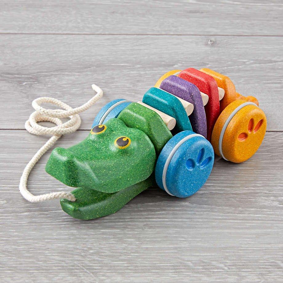 Plan Toys Rainbow Alligator Pull Toy