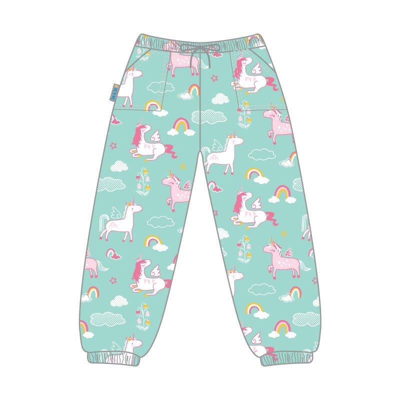 New Jan & Jul Puddle-Dry Rain Pants Single Layer - Unicorn 2T