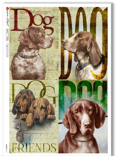 Rice Paper for Decoupage  Dogs
