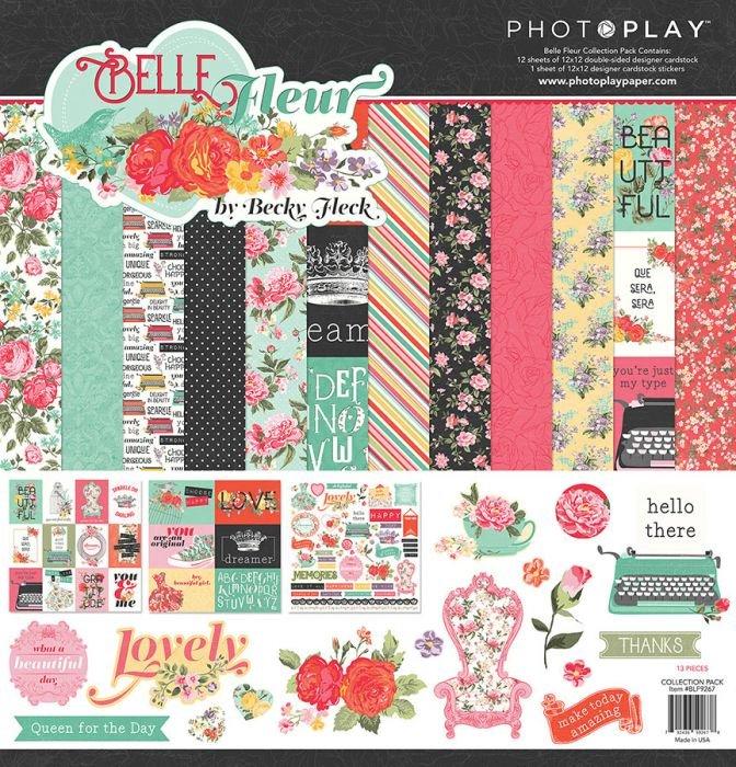 Belle Fleur  12X12 Mega Paper Pack