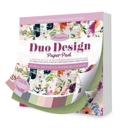 Duo Design Paper Pad - Floral Delights & Watercolour Wash