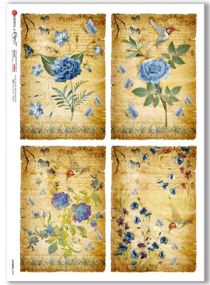 Rice Paper for Decoupage Flowers 6