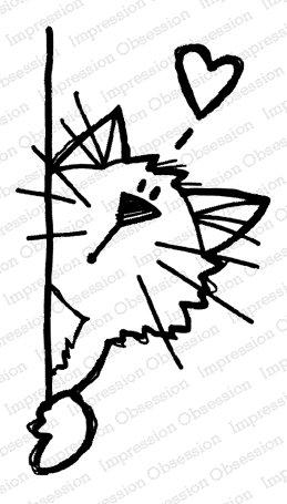 Peek-A-Boo Kitty Cling Stamp
