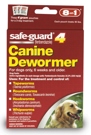 Safe-Guard 4 Canine Dewormer for Large Dogs 3 pk