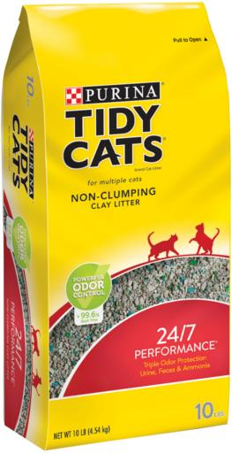 Tidy Cat Non-Clumping Clay litter 10 LB bag