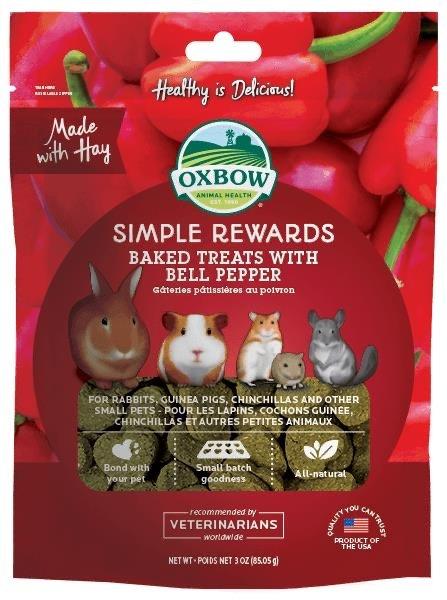 Oxbow Simple Rewards Bell Pepper Treat 3 oz bag