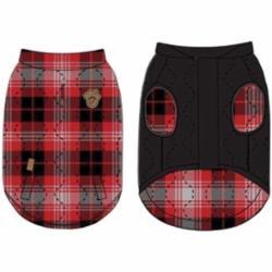 Canada Pooch Reversible Vest Black/Red Plaid