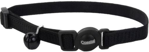 Coastal Style 7001 Safe Cat Breakaway Cat Collar 3/8 x 8-12 Black