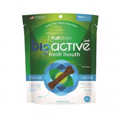 Fruitables Bioactive Small Dental Dog Treats 15 count