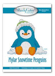 Mylar Snowtime Penquins