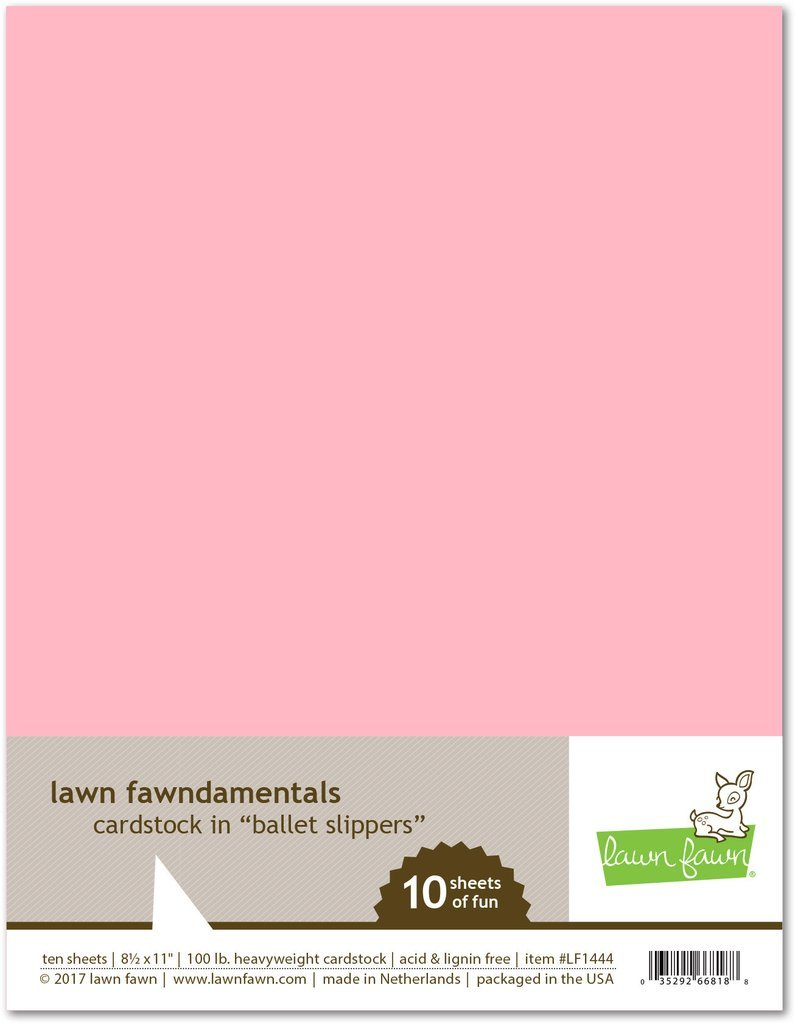 LF Cardstock - Ballet Slippers (8.5 x 11 / 10 sheets)