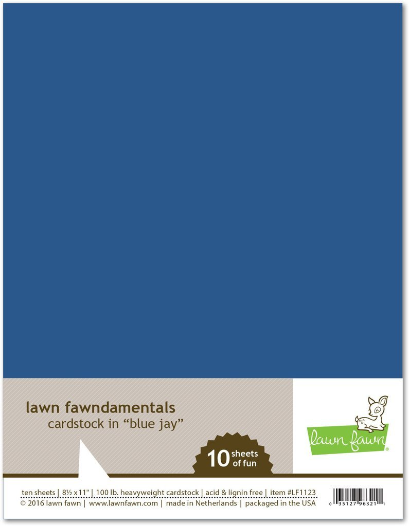 LF Cardstock - Blue Jay (8.5 x 11 / 10 sheets)