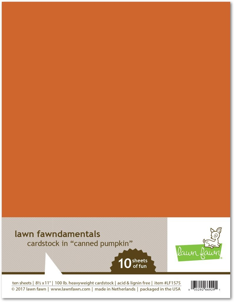 LF Cardstock - Canned Pumpkin (8.5 x 11 / 10 sheets)