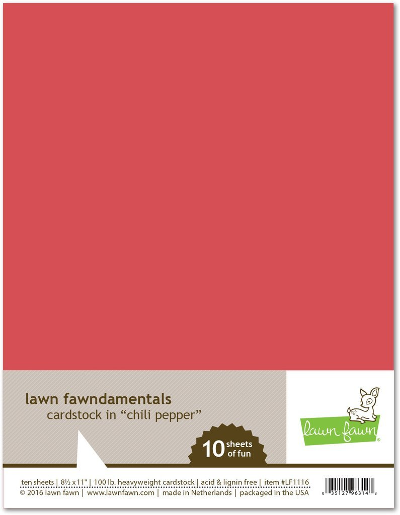 LF Cardstock - Chili Pepper (8.5 x 11 / 10 sheets)