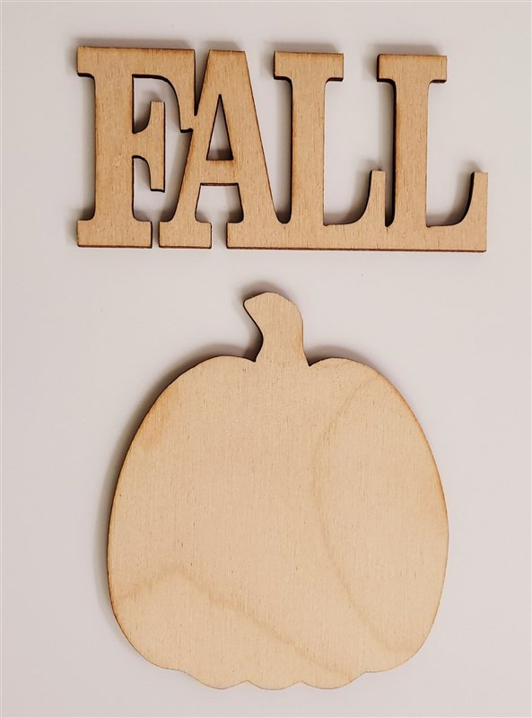 Clear Scraps Fall Word & Shape (Frameables)