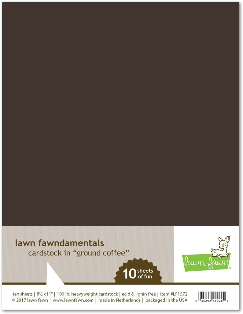 LF Cardstock - Ground Coffee (8.5 x 11 / 10 sheets)