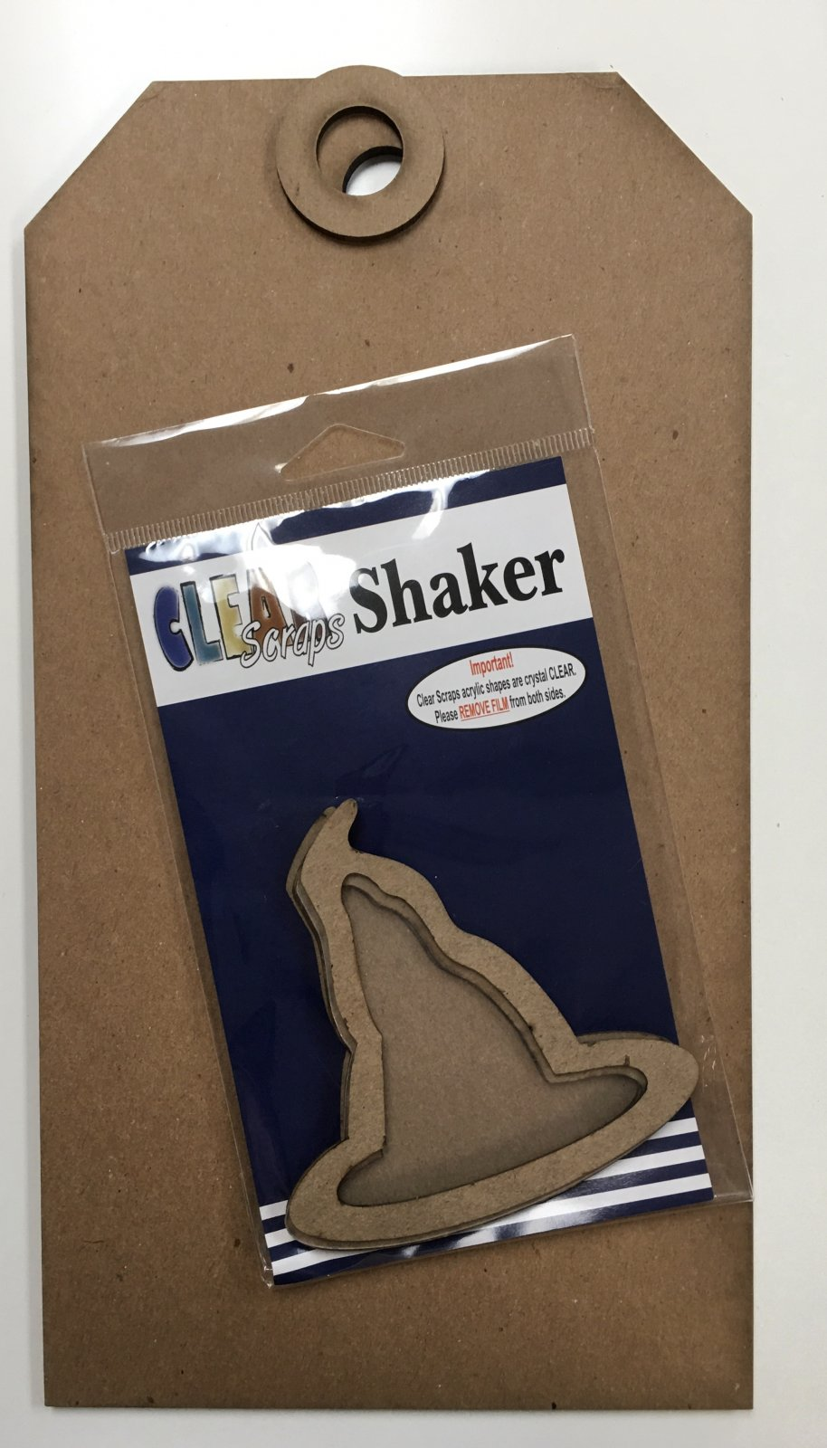 Big Wood Tag Halloween - Witch Hat Shaker