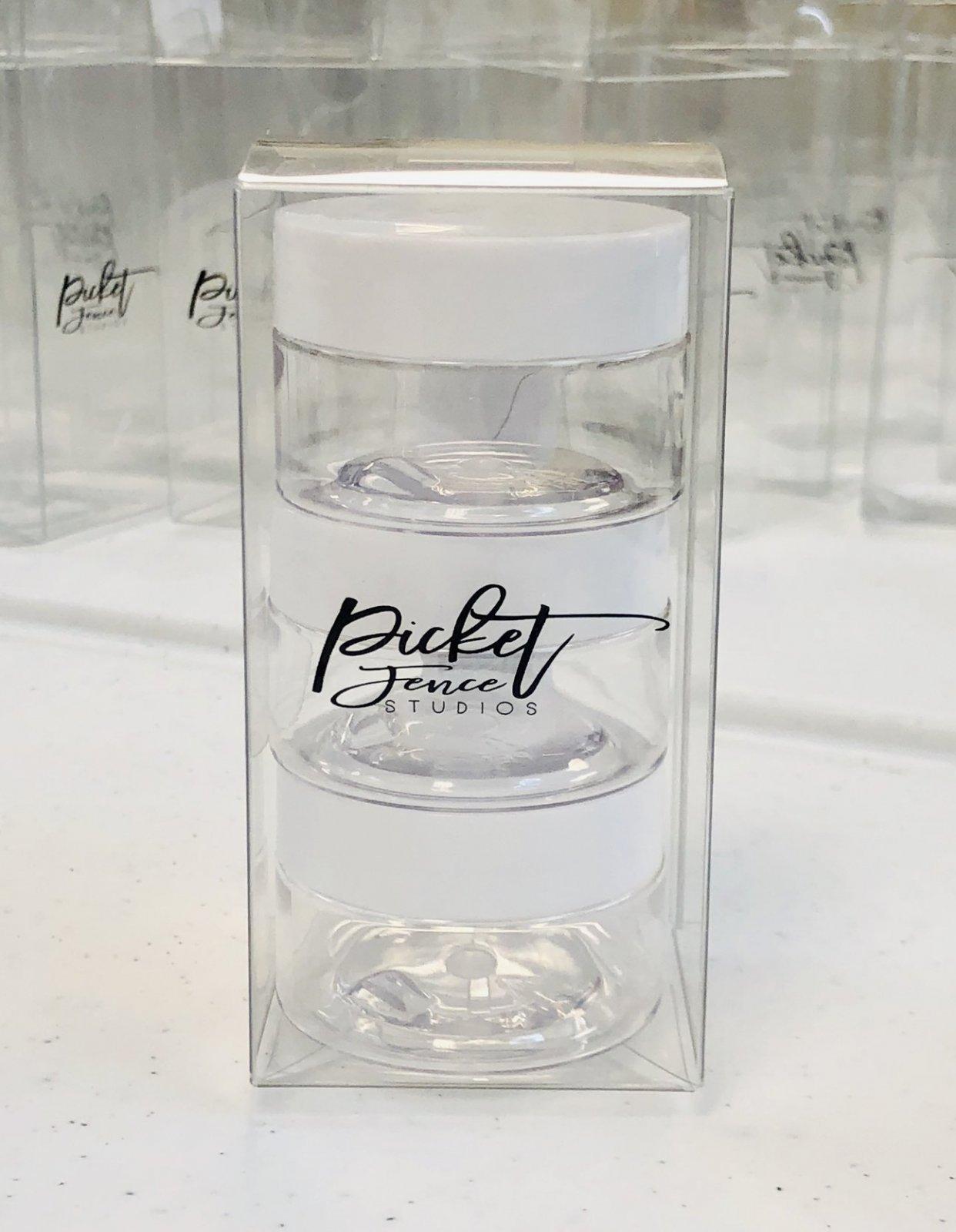 PF 2 Oz Empty Jars with Lids (3 Pack)