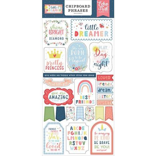 Little Dreamer Girl 6x13 Chipboard Phrases