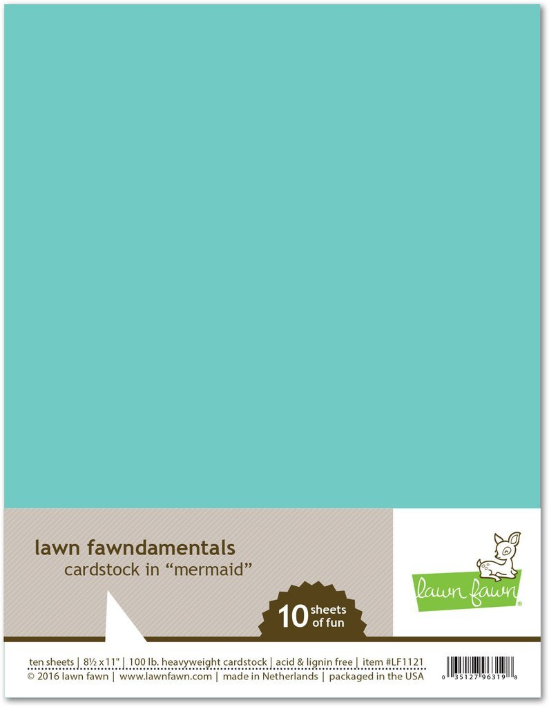 LF Cardstock - Mermaid (8.5 x 11 / 10 sheets)