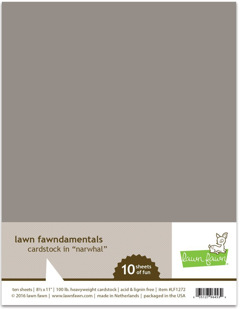 LF Cardstock - Narwhal (8.5 x 11 / 10 sheets)