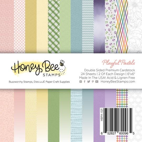 Honey Bee Playful Pastels 6x6 Pad