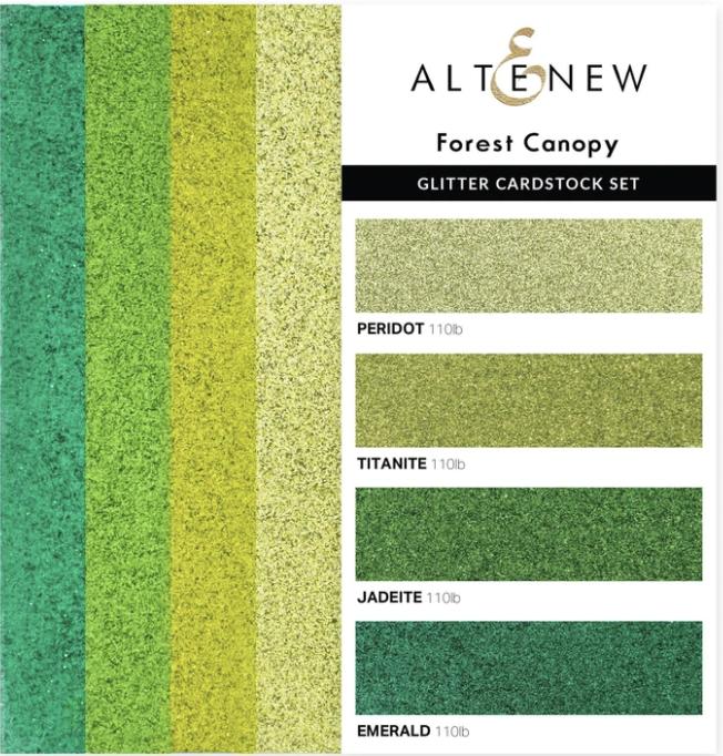 Altenew Glitter Cardstock Set - Forest Canopy