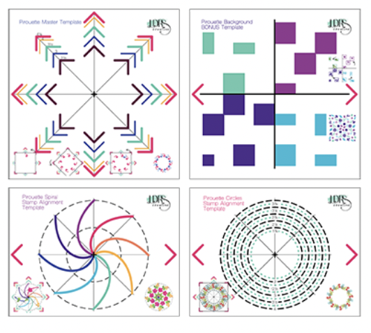 LDRS Pirouette Pattern Templates (4 templates)
