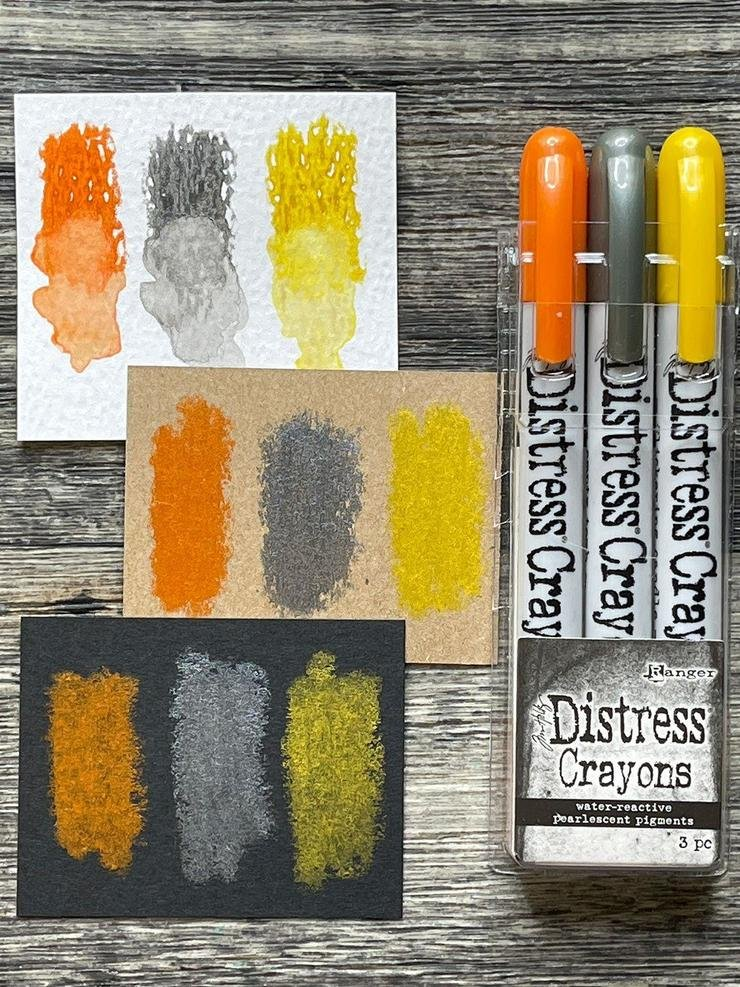 Tim Holtz Distress Halloween Pearlescent Crayon Set 1