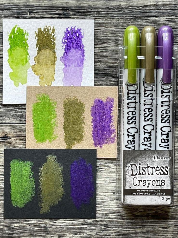 Tim Holtz Distress Halloween Pearlescent Crayon Set 2