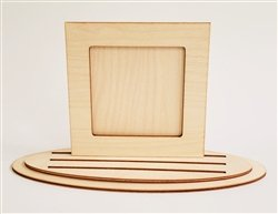 Clear Scraps Square Frame with Base