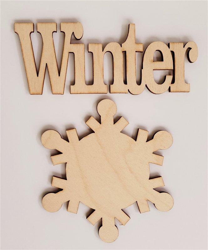 Clear Scraps Winter Word & Shape (Frameables)