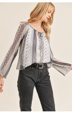 Gust Peasant Top, Midnight