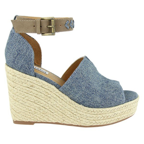 Denim Wedge Sandal