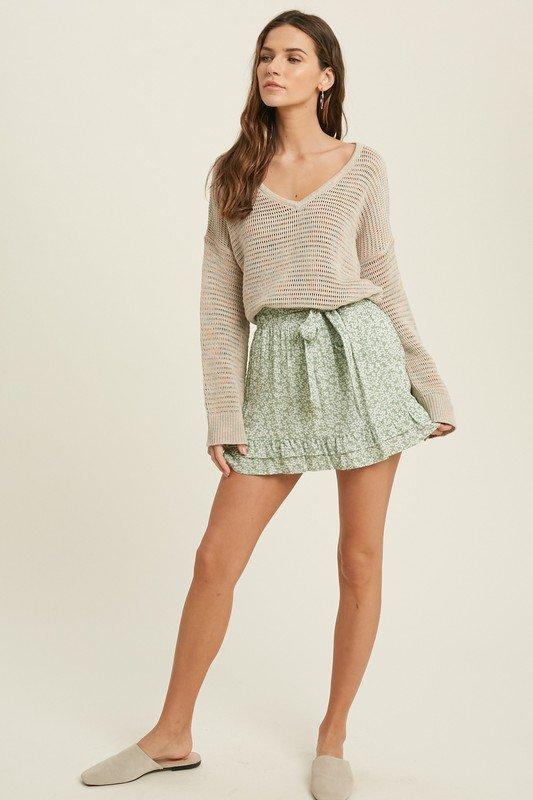 Multi Colored V-Neck Sweater