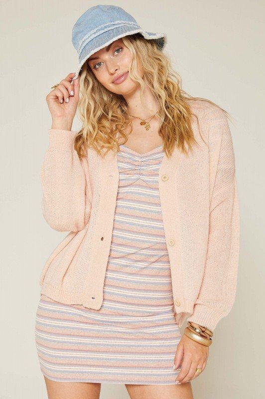 Short Cardigan, Light Pink
