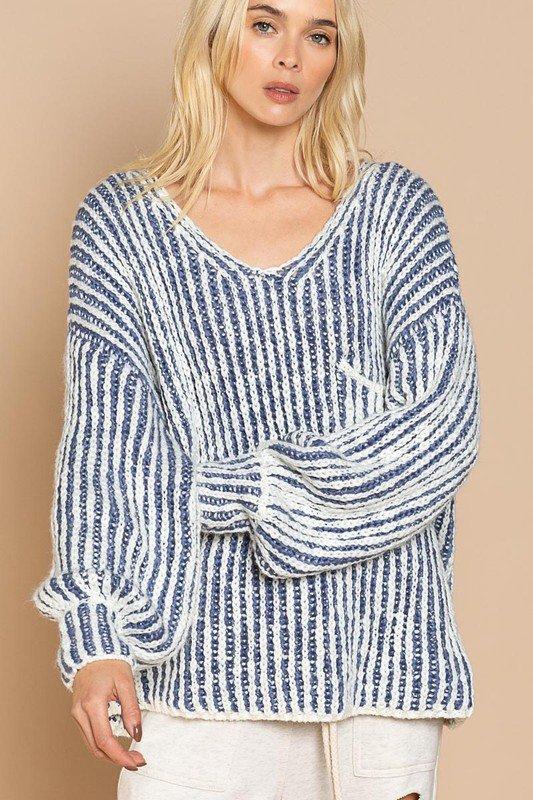 Cornflower Stripe Sweater