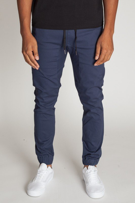 Drop Crotch Twill Jogger, Cobalt Blue