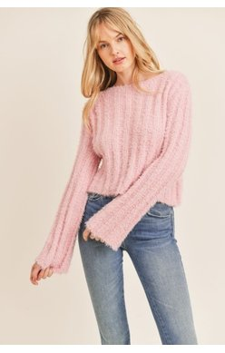 Soft at Heart Pullover Sweater, Pink