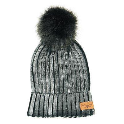 Winter Bennie w/ Pom Pom, Black