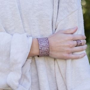 Copper Patina Bracelet, Artisan Made