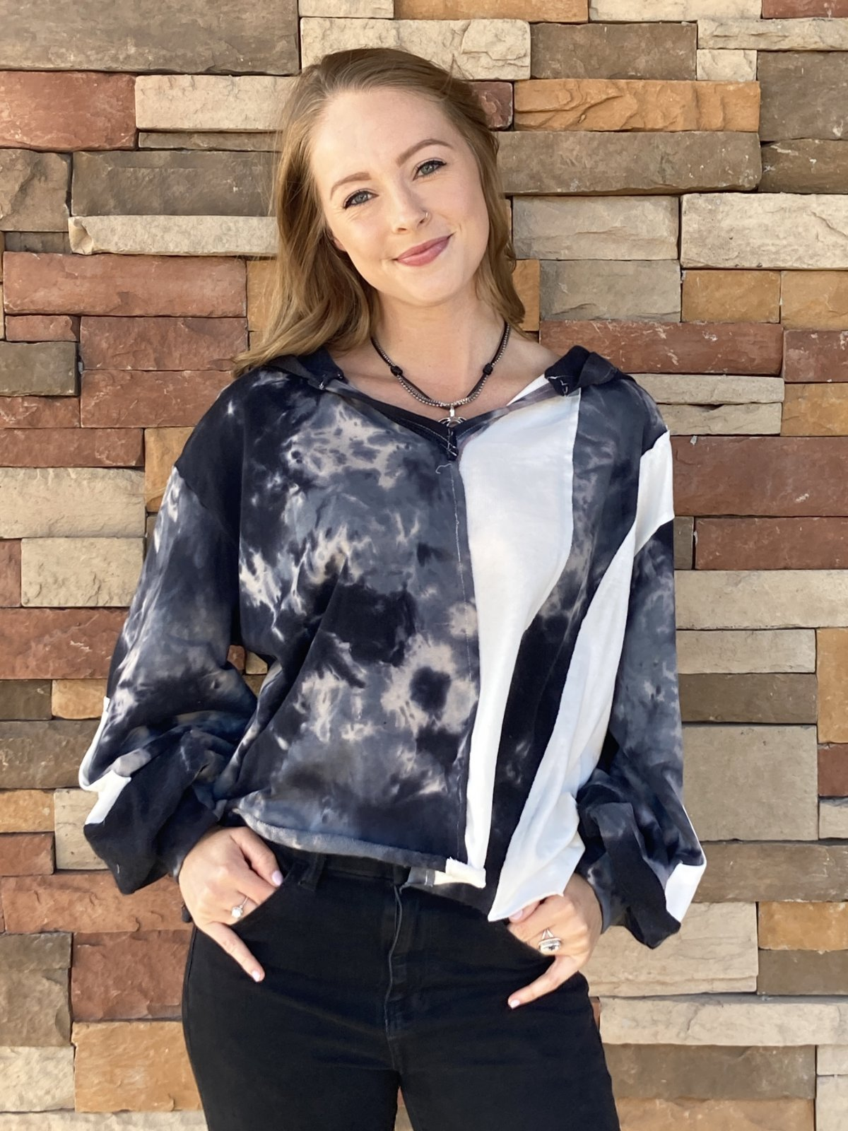 French Terry Top, Navy