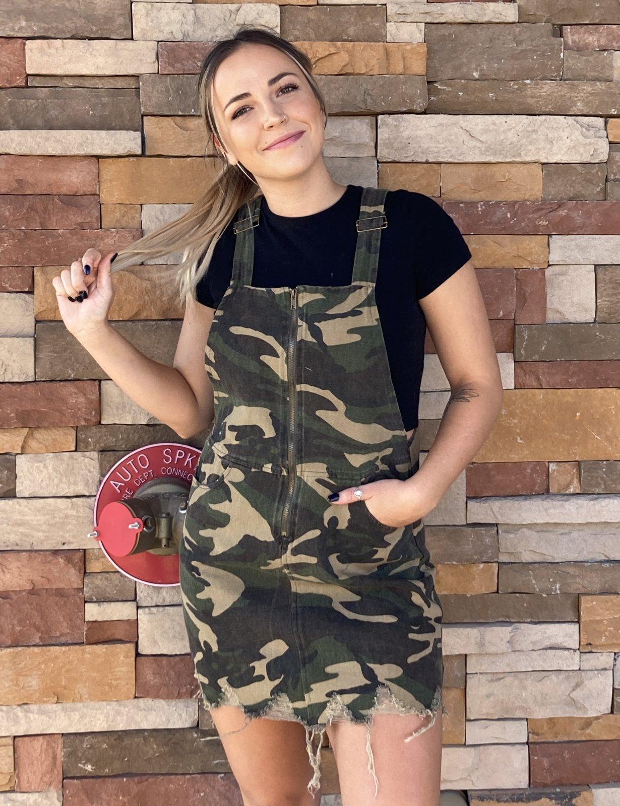 Overall Camo Dress