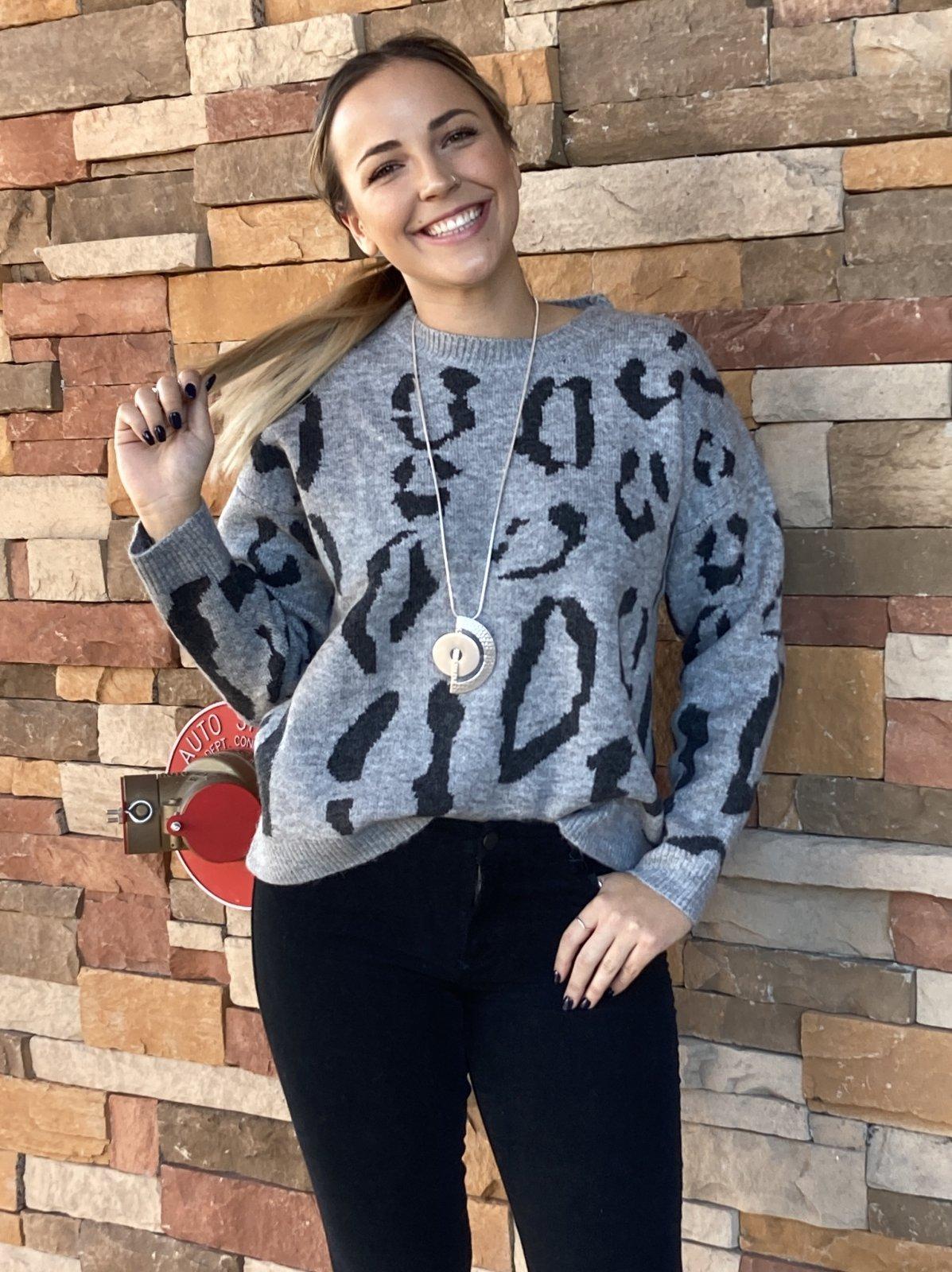 Crew Neck Sweater, Grey